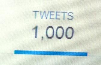 1000 tweets (23rd March 2015)