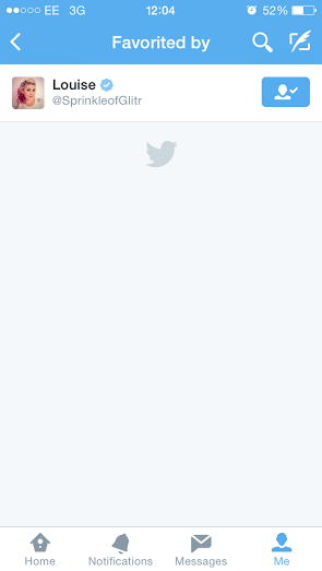 get favourited by a celebrity on twitter (10.4.2015)
