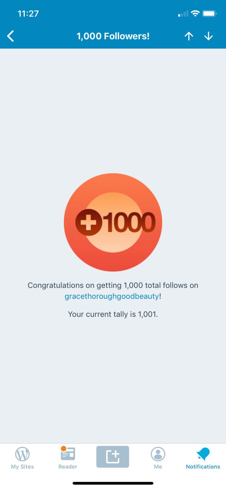 1000 followers!!!!!