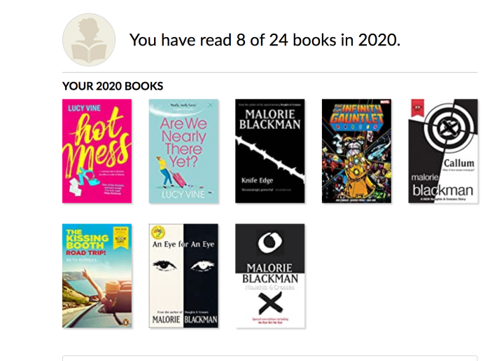 Books I read from January- April 2020:)